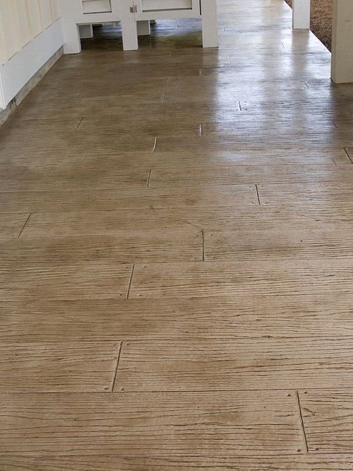 Wood Stamped Concrete Floors : Stamped concrete wood home design ideas pictures remodel