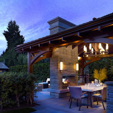 Traditional Patio by Peter Rose Architecture and Interiors