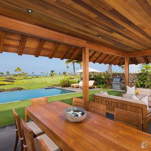 Foto di un patio o portico tropicale