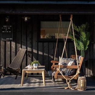 Imagen de patio escandinavo, de tamaño medio, en patio lateral y anexo de casas