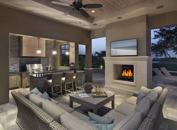 Contemporary Patio by Castle Harbour homes