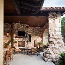 Mediterranean Patio by Cornerstone Architects