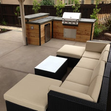 Transitional Patio by KC Construction
