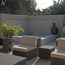 Mediterranean Patio by David Brandsen Construction Inc.