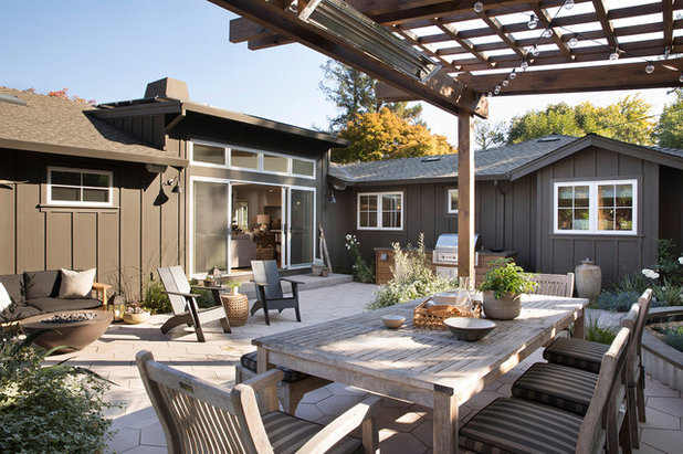 Transitional Patio by Libby Raab Architecture