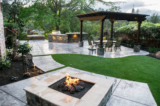 Mediterranean Patio by Alder Group, Pool and Landscape Co.