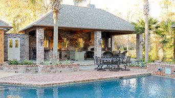 Lake at White Oak Outdoor Kitchen