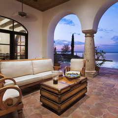 mediterranean patio by JAUREGUI Architecture Interiors Construction