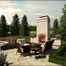 Traditional Patio by Arrow. Land + Structures