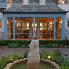 Traditional Patio by Michael Abraham Architecture