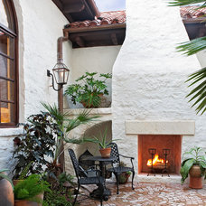 Mediterranean Patio by Cornerstone Architects