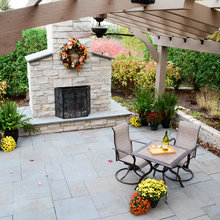 Backyard Patio Brick/Firepit Ideas