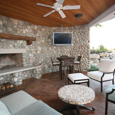 Beach Style Patio by Cottage Home, Inc.