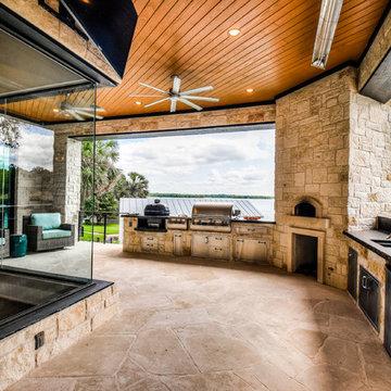 Lakefront Coastal Contemporary by Zbranek & Holt Custom Homes Austin TX