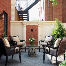 Traditional Patio by Prassas Landscape Studio LLC