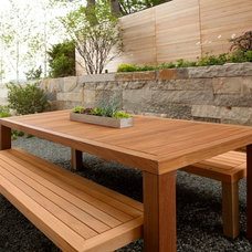 Transitional Patio by Kurt Baum & Associates