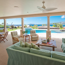 Beach Style Patio by Archipelago Hawaii Luxury Home Designs