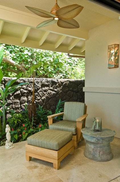 tropical patio by Archipelago Hawaii, refined island designs