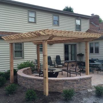 Lancaster patio with pergola