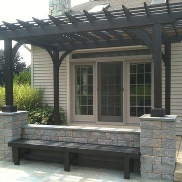 Lancaster patio with pergola