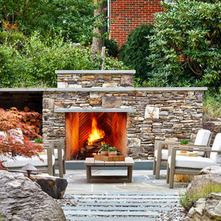 75 Beautiful Outdoor Design With A Fireplace And No Cover Pictures