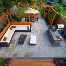 Contemporary Patio by McNeill Photography