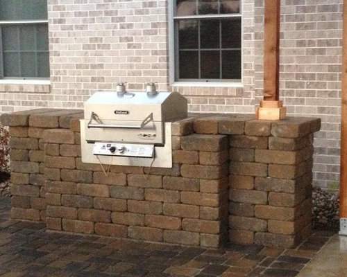 Brick Patio Grill Home Design Ideas Pictures Remodel And