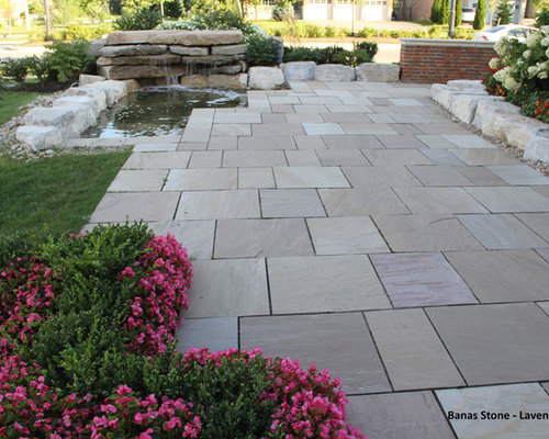 square flagstone patio. inspiration for a timeless stone patio remodel in ottawa square flagstone