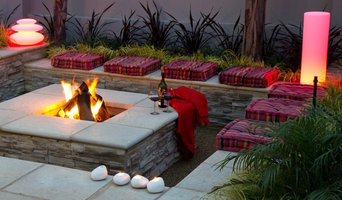 Landscaping with Fire - Square fire pit