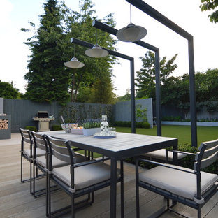 Large modern family garden for entertaining and play