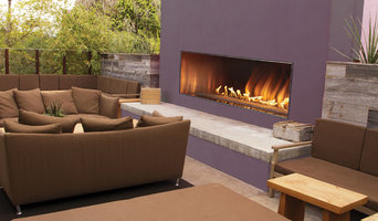 Large Purple Accented Outdoor Fireplace - American Hearth