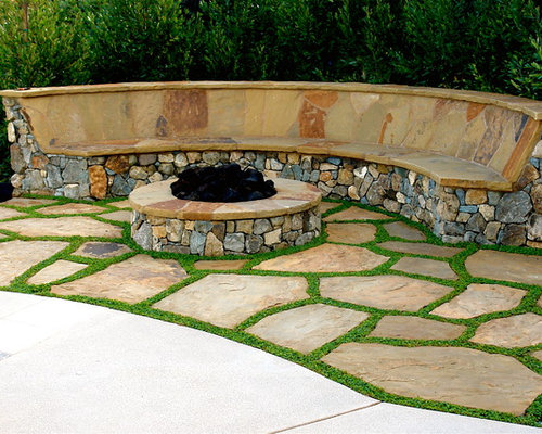 Flagstone With Ground Cover Houzz