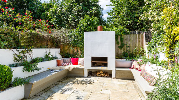 Eclectic Patio by Gotham Interiors