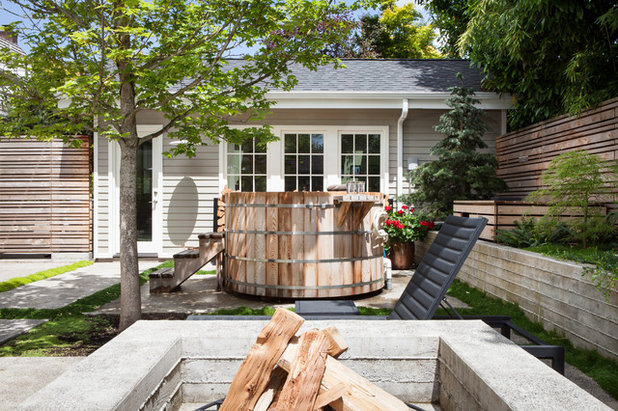Rustic Patio by Howells Architecture + Design
