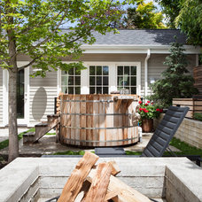 Rustic Patio by Howells Architecture + Design, LLC