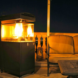 Lava Heat Pandora Y5 Propane Fire Pit - Lava Heat Pandora Y5 Propane Fire Pit uses a propane tank to product enough heat to warm areas up to 25 square feet. The Propane model is also available in carbon gray and bronze colors. -Mantels Direct