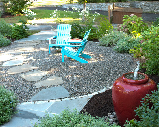 pea gravel patio ideas and | houzz - Gravel Patio Designs