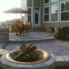 Contemporary Patio by Backyard Retreats Patios & Ponds