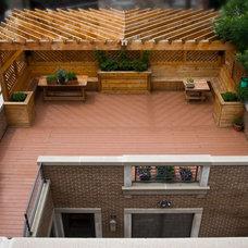 Modern Patio by LG Construction + Development