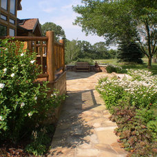 Rustic Patio by Blanford Design