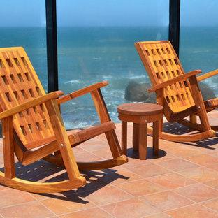 Idee per un patio o portico costiero