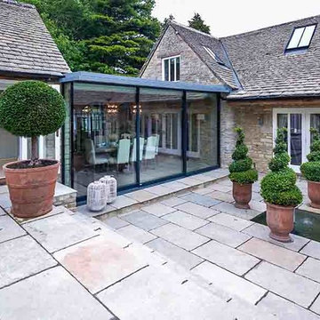 Limestone Paving Add's Finishing Touch to Stunning Cotswold House
