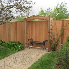 Contemporary Patio by Thomas Fence & Deck