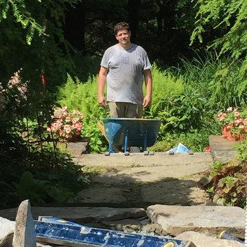 Little Masonry repair job (repair natural stone steps)