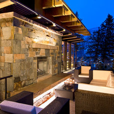 Contemporary Patio by Charles Cunniffe Architects Aspen