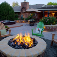 Traditional Patio by Watermark Landscapes