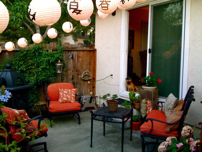 Eclectic Patio by Cherie Marcel