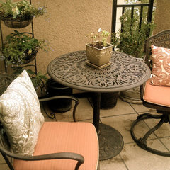 traditional patio by Cherie Marcel