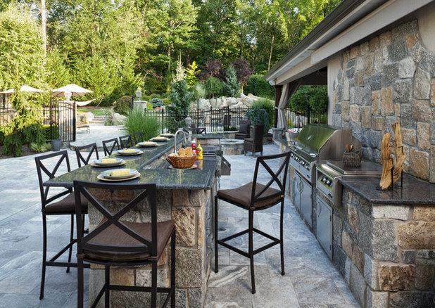 Mediterranean Patio by b. home interiors | R. HOME Design Store