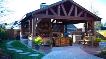 Lodge Style Outdoor Living Room